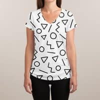 Party Pattern - womens-sublimated-v-neck - small view