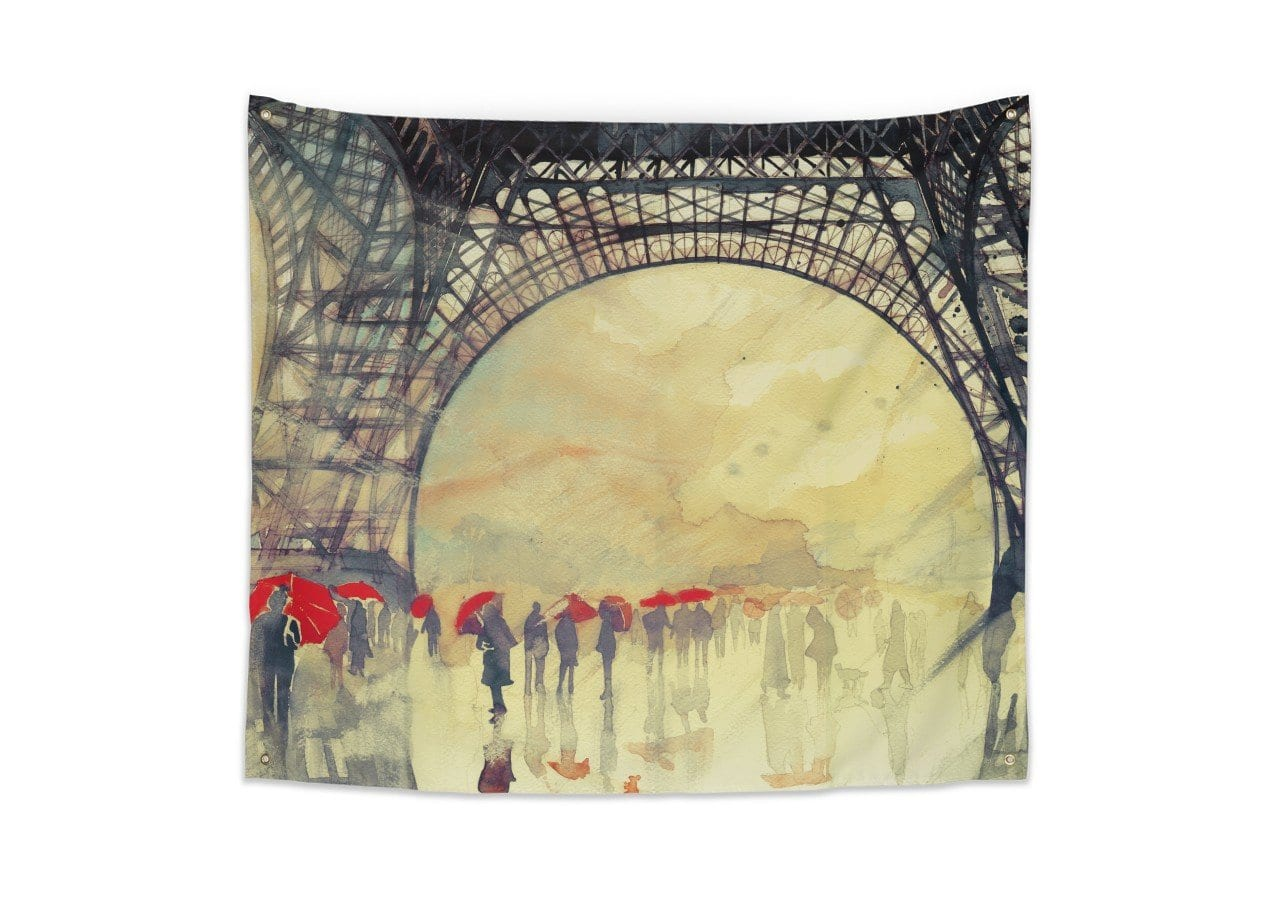 Winter in Paris by Maja Wronska | Indoor Wall Tapestry Threadless