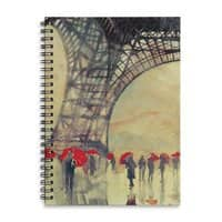 Winter in Paris - spiral-notebook - small view