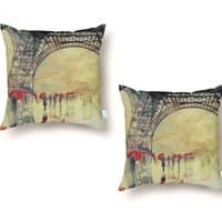 Winter in Paris - throw-pillow - small view