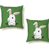 Rabbit Hole - throw-pillow - small view