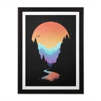 Mountain Stream - black-vertical-framed-print - small view