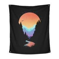 Mountain Stream - indoor-wall-tapestry-vertical - small view