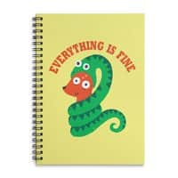 Everything Is Fine - spiral-notebook - small view