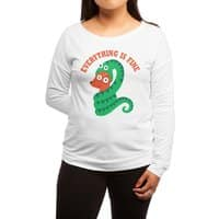 Everything Is Fine - womens-long-sleeve-terry-scoop - small view
