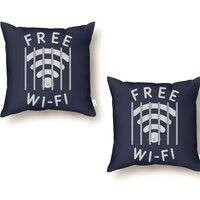 Free Wi-Fi - throw-pillow - small view
