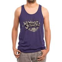 We Want Jetpacks! - mens-triblend-tank - small view