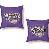 We Want Jetpacks! - throw-pillow - small view