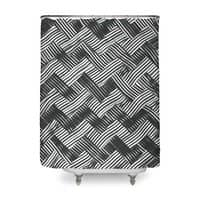 abstract chevron weave   - shower-curtain - small view