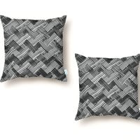 abstract chevron weave   - throw-pillow - small view