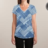 abstract chevron weave   - womens-sublimated-v-neck - small view