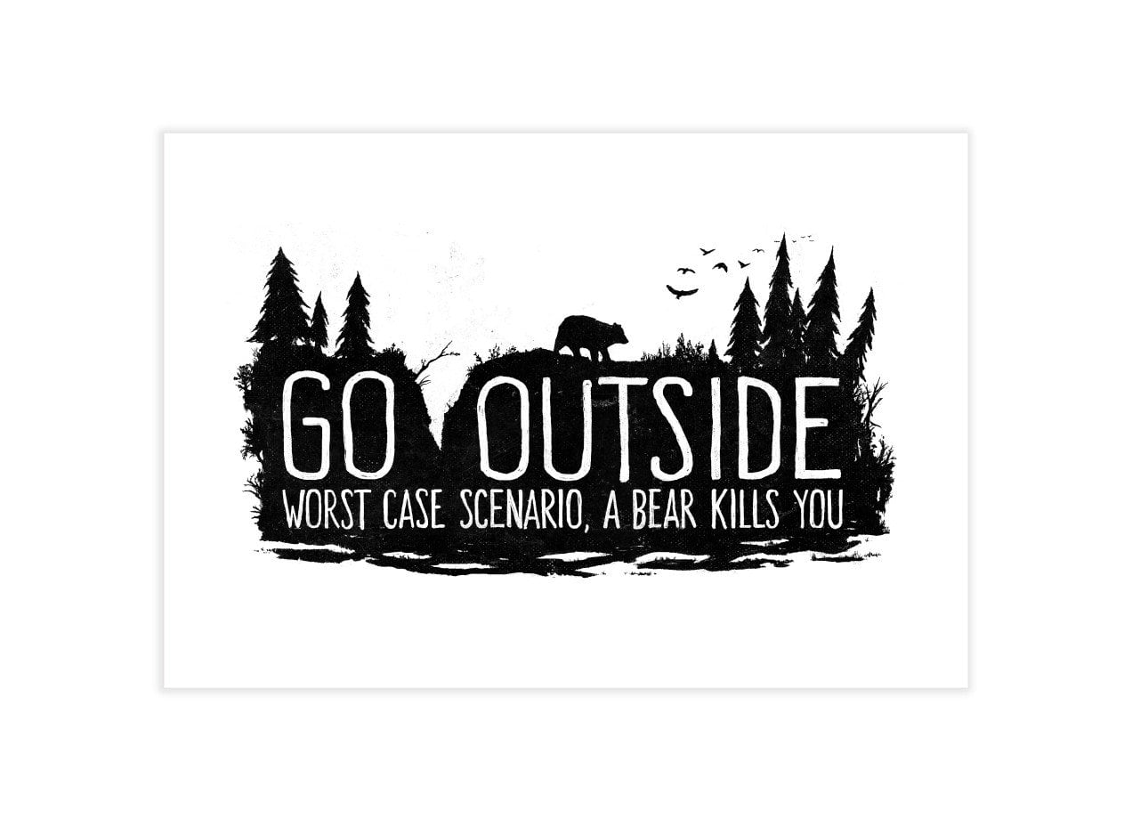 Worst Case Scenario, A Bear Kills You by Fox Shiver   Indoor Wall Tapestry  Threadless