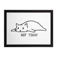 Not Today - black-horizontal-framed-print - small view