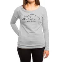 Not Today - womens-long-sleeve-terry-scoop - small view