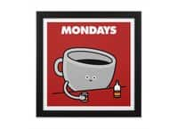 Mondays - black-square-framed-print - small view