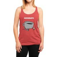 Mondays - womens-triblend-racerback-tank - small view