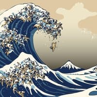 The Great Wave of Pug - small view