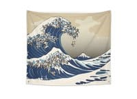The Great Wave of Pug - indoor-wall-tapestry - small view