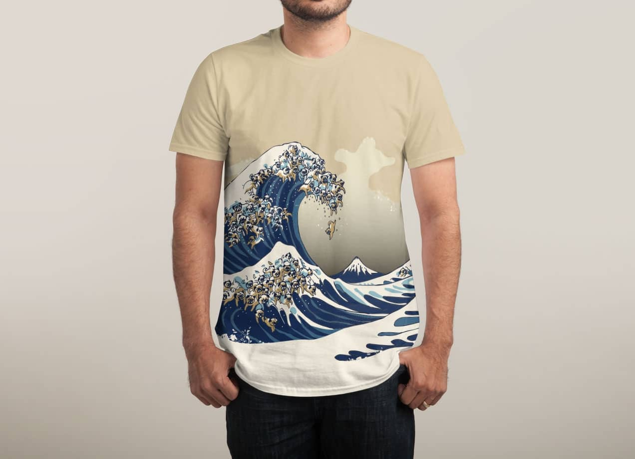 pug wave the great wave of pug by chalermphol harnchakkham mens 7660