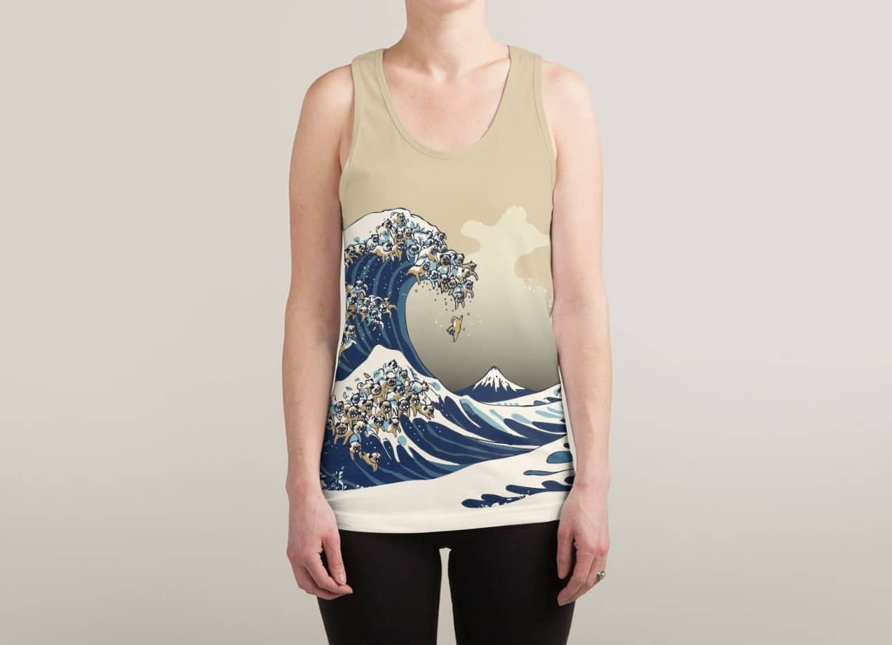 pug wave the great wave of pug by chalermphol harnchakkham threadless 7813