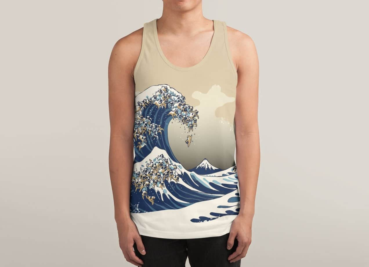 pug wave the great wave of pug by chalermphol harnchakkham mens 9621