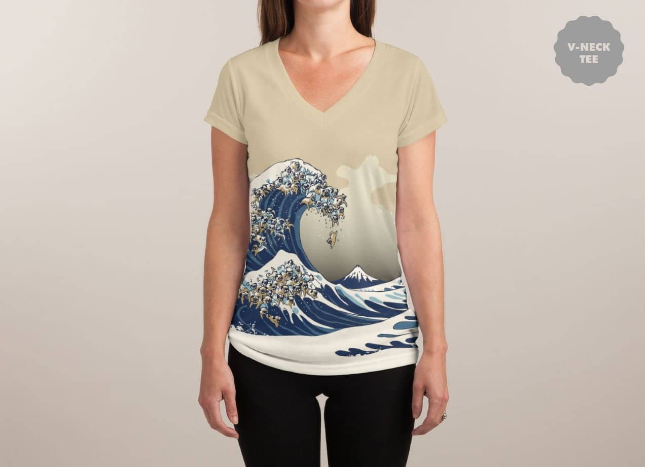 pug wave the great wave of pug by chalermphol harnchakkham threadless 2717