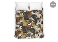 Social Pugs - duvet-cover - small view
