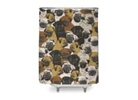 Social Pugs - shower-curtain - small view