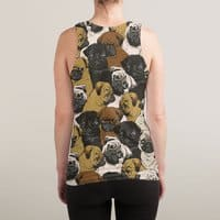 Social Pugs - sublimated-tank - small view