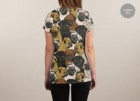 Social Pugs - womens-sublimated-v-neck - small view