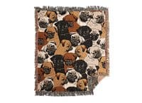 Social Pugs - woven-blanket - small view