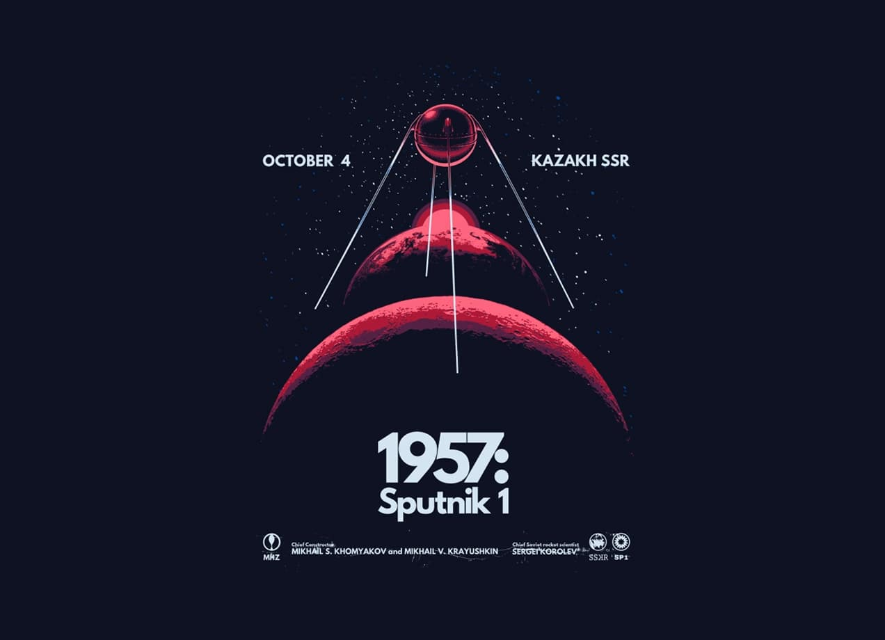 1957 Sputnik 1 By Santiago Sarquis Threadless