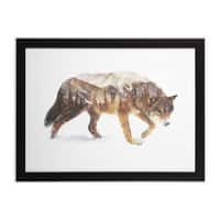 Wolf In The Arctic - black-horizontal-framed-print - small view