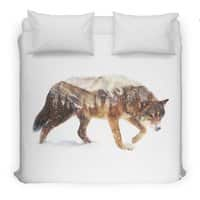 Wolf In The Arctic - duvet-cover - small view