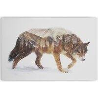 Wolf In The Arctic - horizontal-canvas - small view
