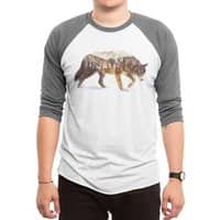Wolf In The Arctic - triblend-34-sleeve-raglan-tee - small view