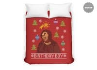 Ugly Jesus Sweater - duvet-cover - small view