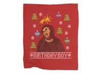 Ugly Jesus Sweater - blanket - small view