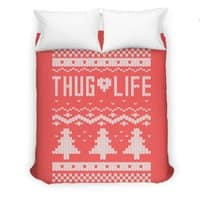 Thug Life Christmas Sweater - duvet-cover - small view