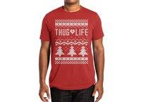 Thug Life Christmas Sweater - mens-extra-soft-tee - small view