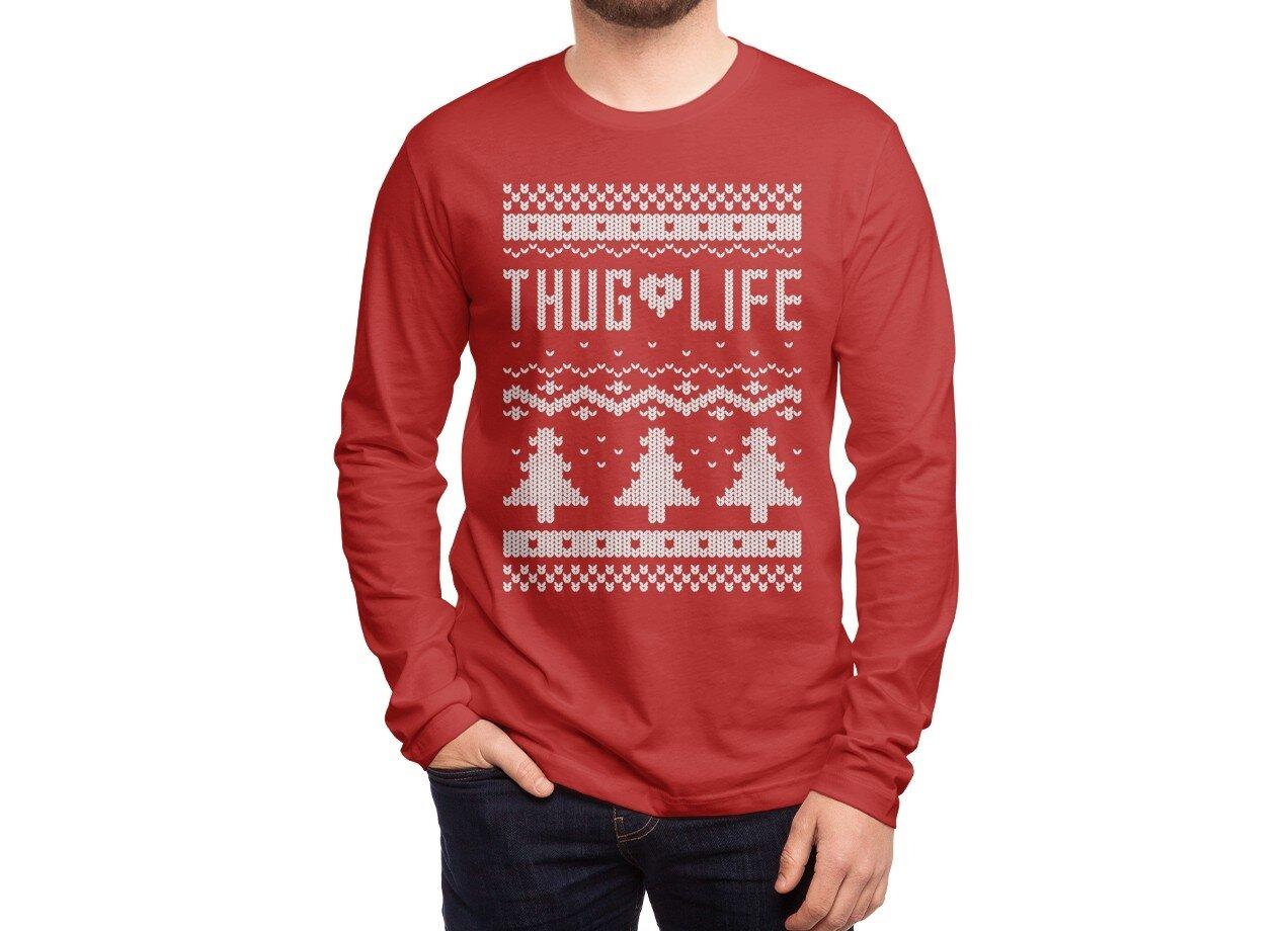Mens Christmas Sweater.Thug Life Christmas Sweater