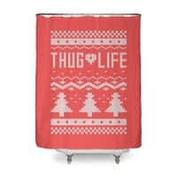 Thug Life Christmas Sweater - shower-curtain - small view