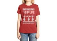 Thug Life Christmas Sweater - womens-extra-soft-tee - small view