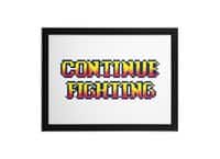 Continue Fighting - black-horizontal-framed-print - small view