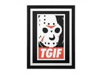 TGIF - black-vertical-framed-print - small view