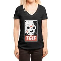 TGIF - womens-deep-v-neck - small view