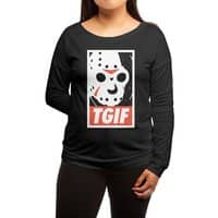 TGIF - womens-long-sleeve-terry-scoop - small view