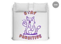 Stay pawsitive - duvet-cover - small view