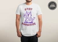 Stay pawsitive - mens-triblend-tee - small view