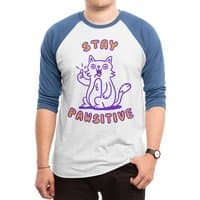 Stay pawsitive - triblend-34-sleeve-raglan-tee - small view